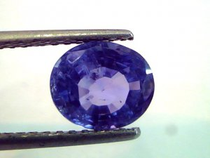 3.05 Ct Untreated Natural Raktmukhee Blue Sapphire-Khuni neelam