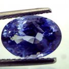4.14 Ct Unheated Natural Kashmir Origin Jammu Blue Sapphire **IGI CERTIFIED**