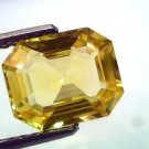 4.28 Ct Certified Unheated Untreated Natural CeylonYellow Sapphire AAAAA