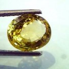 4.09 Ct Certified Unheated Untreated Natural Yellow Sapphire/Pukhraj