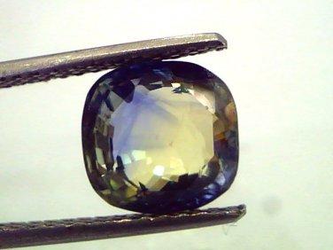 """4.50 Ct Untreated Natural Yellow Blue Mix Pitambari Sapphire """"CERTIFIED"""""""
