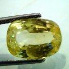 8.93 Ct GII Certified Unheated Untreated Natural Ceylon Yellow Sapphire