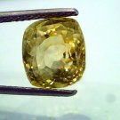 7.51 Ct IGI Certified Unheated Natural Ceylon Yellow Sapphire/Pukhraj AA++