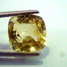6.32 Ct IGI Certified Unheated Natural Ceylon Yellow Sapphire/Pukhraj AA++