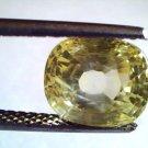 6.05 Ct Unheated Untreated Natural Ceylon Yellow Sapphire Gems