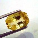 4.07 Ct IGL Certified Unheated Untreated Natural Ceylon Yellow Sapphire AAAAA