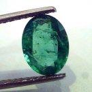 2.25 Ct Unheated Untreated Natural Zambian Emerald Gemstone