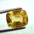 6.74 Ct IGI Certified Unheated Untreated Natural Ceylon Yellow Sapphire/Pukhraj