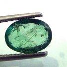 2.10 Ct Unheated Untreated Natural Zambian Emerald Gemstone,Panna
