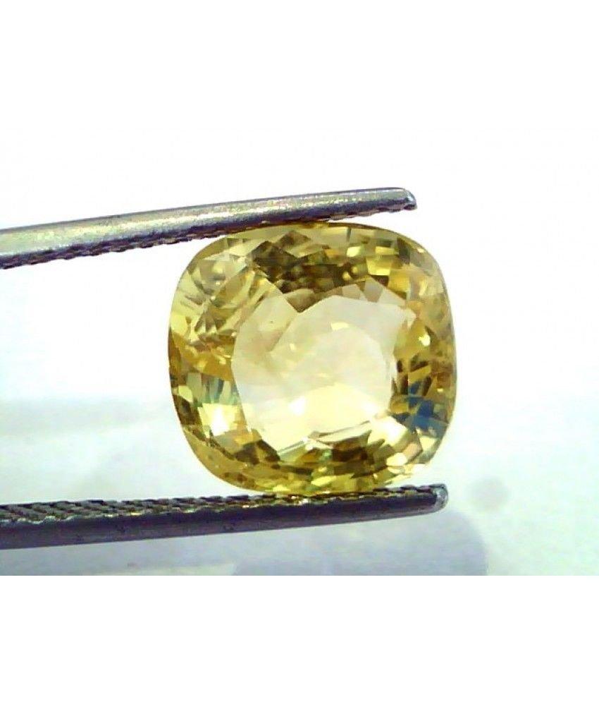 7.00 Ct Unheated Untreated Natural Ceylon Yellow Sapphire/Pukhraj