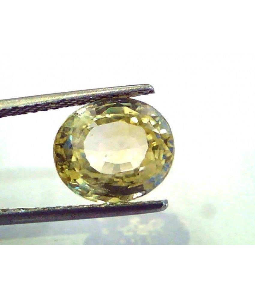 6.40 Ct Unheated Untreated Natural Ceylon Yellow Sapphire/Pukhraj