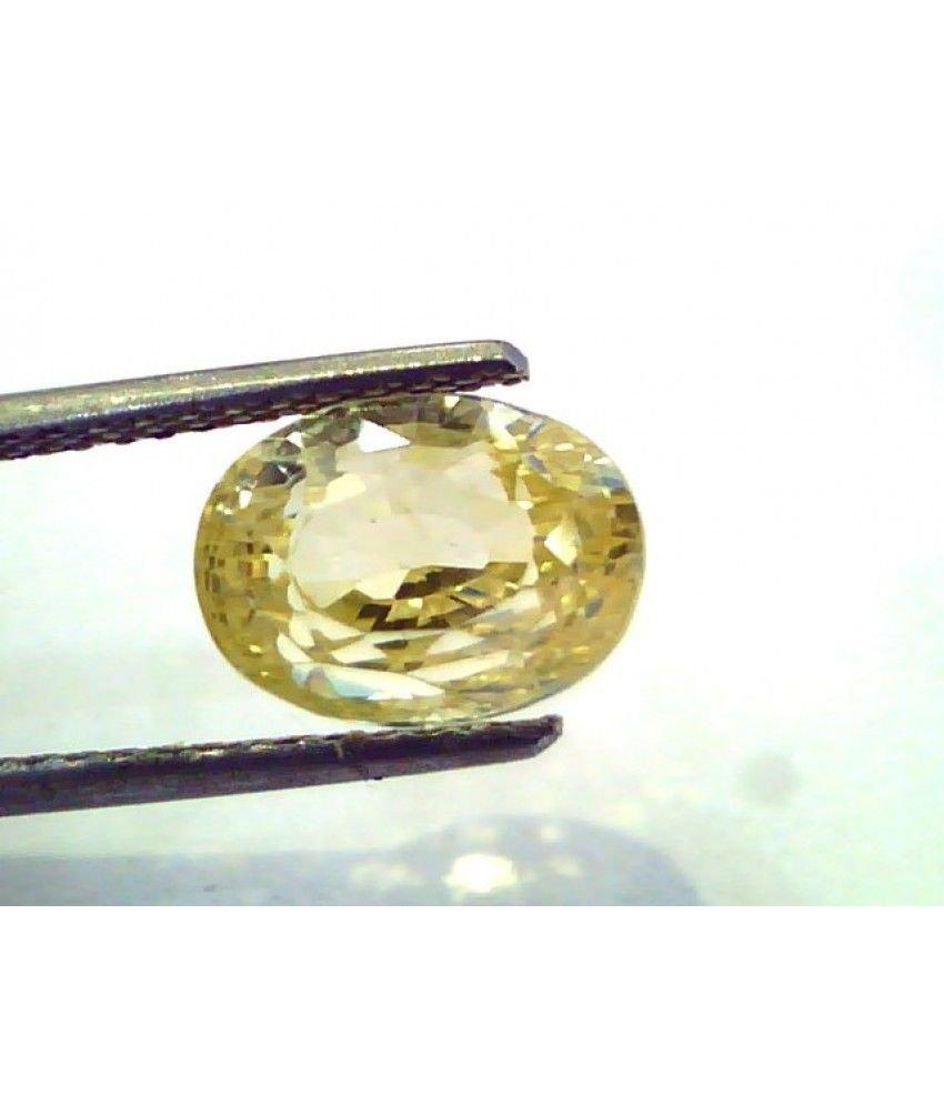 5.60 Ct Unheated Untreated Natural Ceylon Yellow Sapphire/Pukhraj
