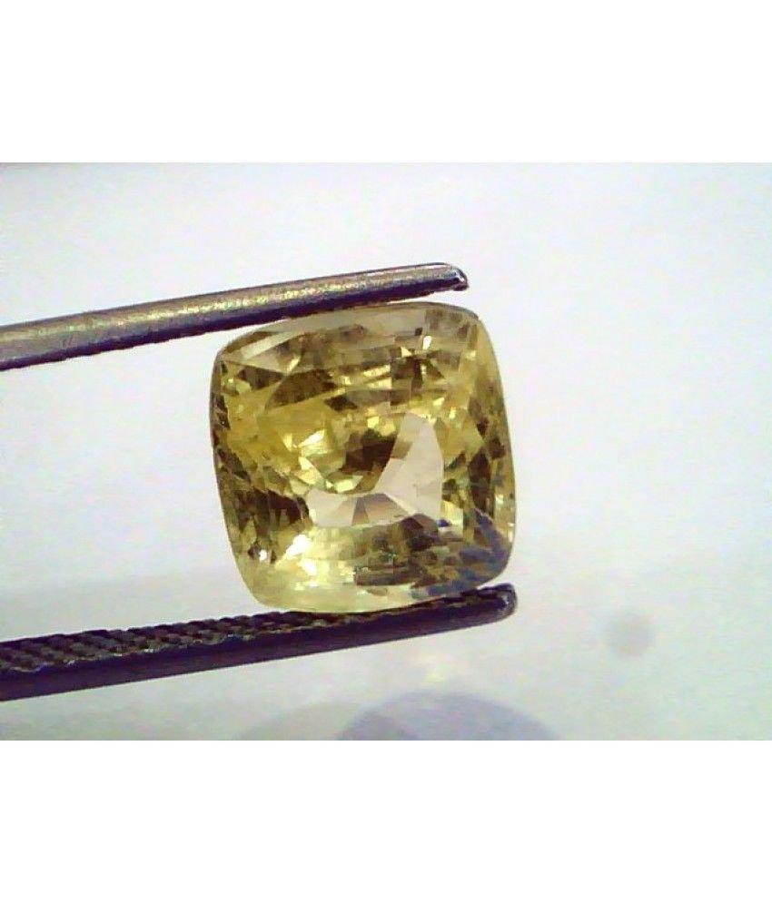 5.35 Ct Unheated Untreated Natural Ceylon Yellow Sapphire/Pukhraj
