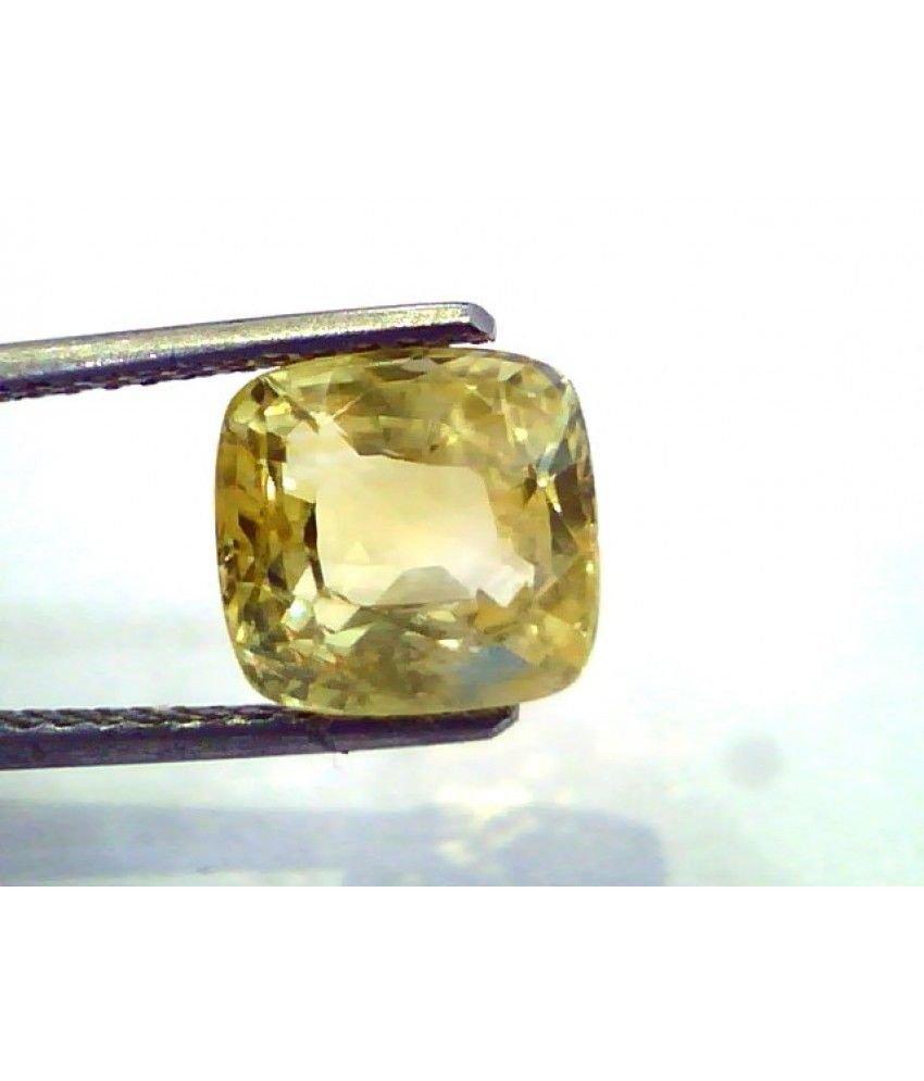 4.90 Ct Unheated Untreated Natural Ceylon Yellow Sapphire/Pukhraj