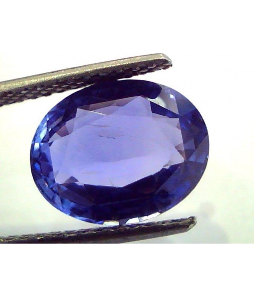 6.01 Ct IGI Certified Untreated Unheated Natural Ceylon Blue Sapphire