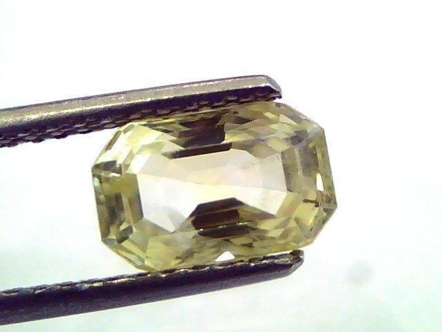2.88 Ct Unheated Untreated Natural Ceylon Yellow Sapphire/Pukhraj
