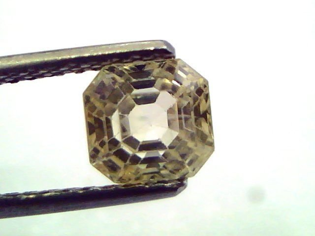 2.73 Ct  Unheated Untreated Natural Ceylon Yellow Sapphire/Pukhraj