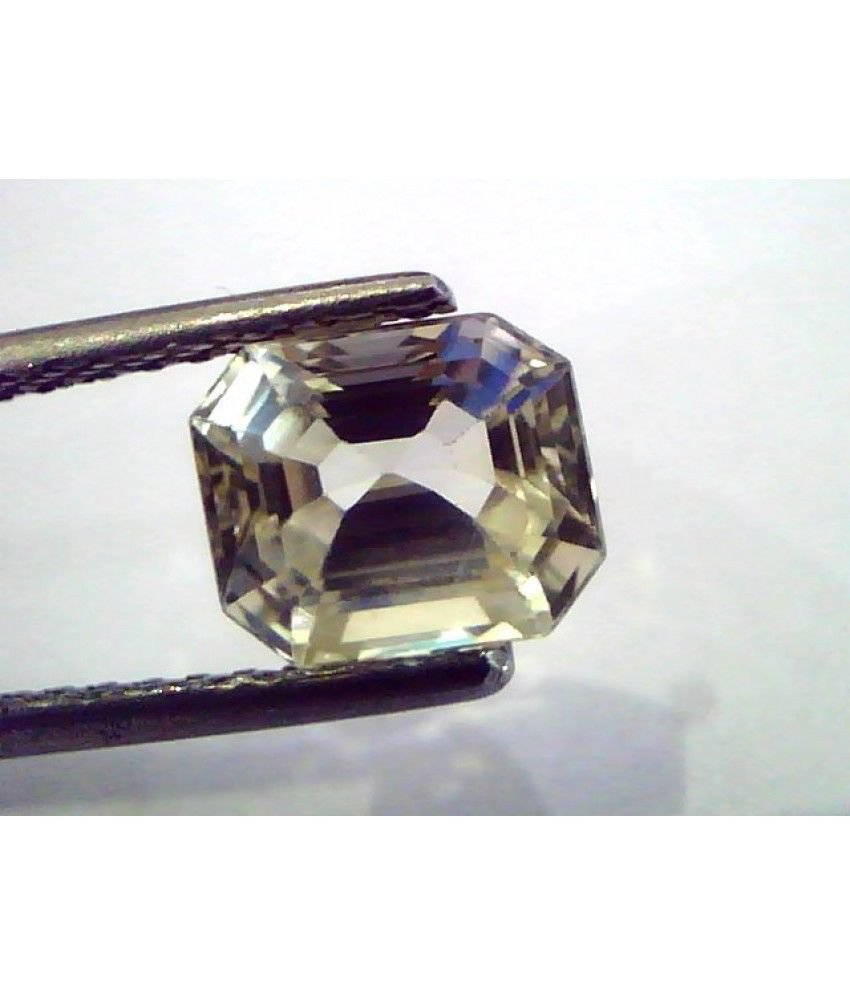 2.41 Ct  Unheated Untreated Natural Ceylon Yellow Sapphire/Pukhraj