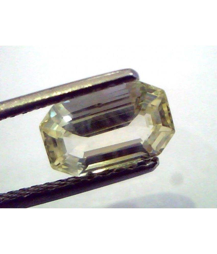 2.36 Ct  Unheated Untreated Natural Ceylon Yellow Sapphire/Pukhraj