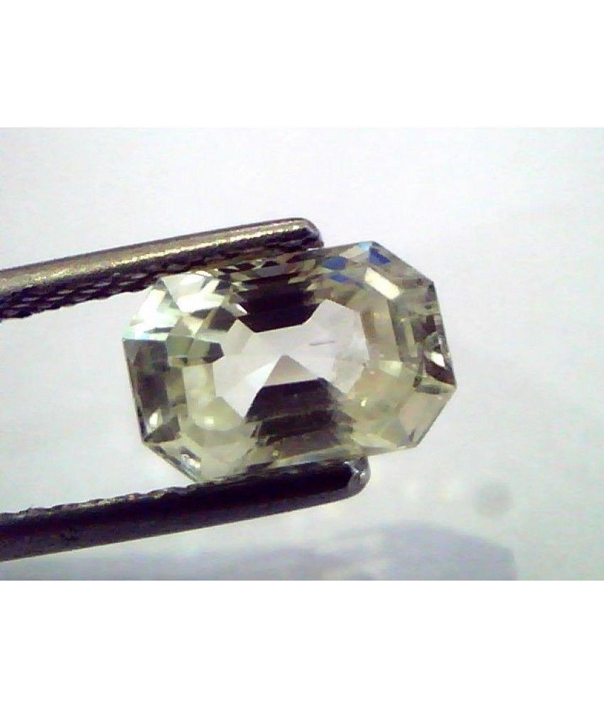 2.29 Ct  Unheated Untreated Natural Ceylon Yellow Sapphire/Pukhraj