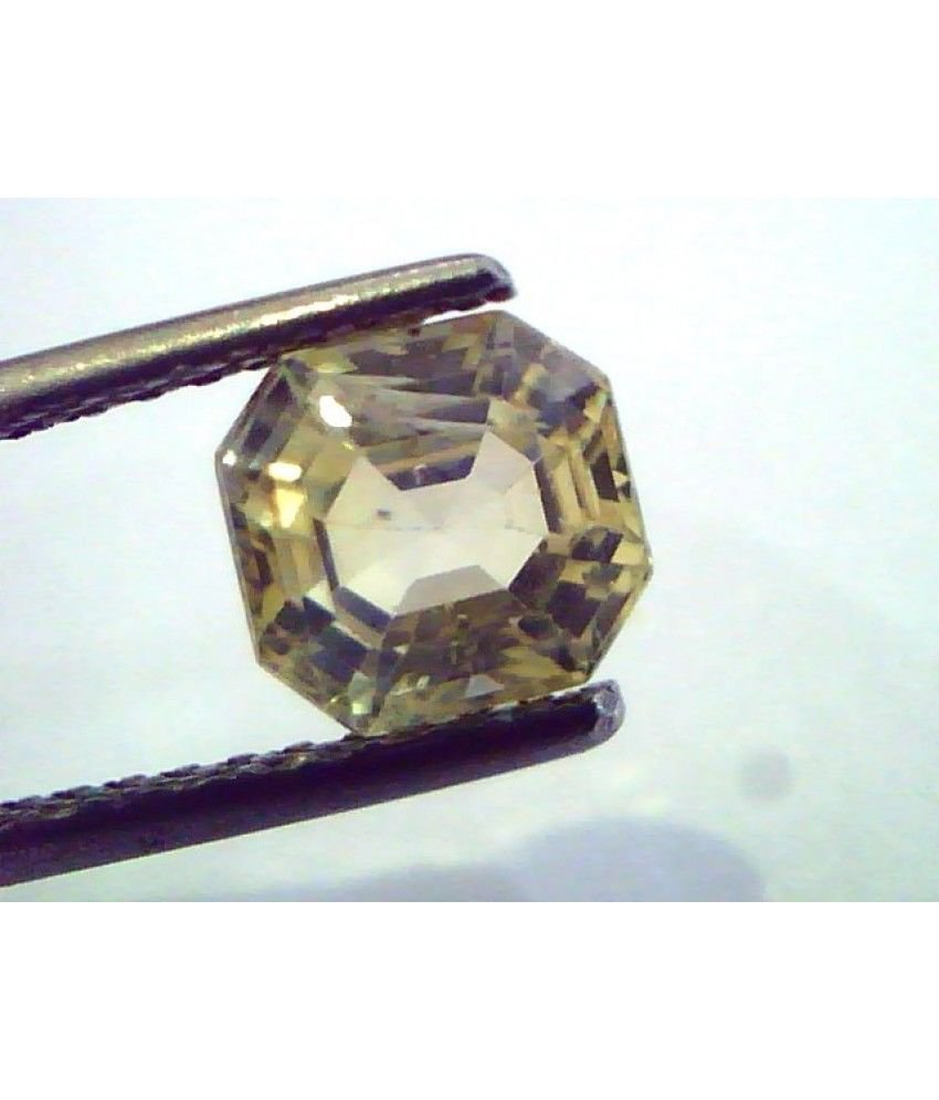 2.27 Ct  Unheated Untreated Natural Ceylon Yellow Sapphire/Pukhraj