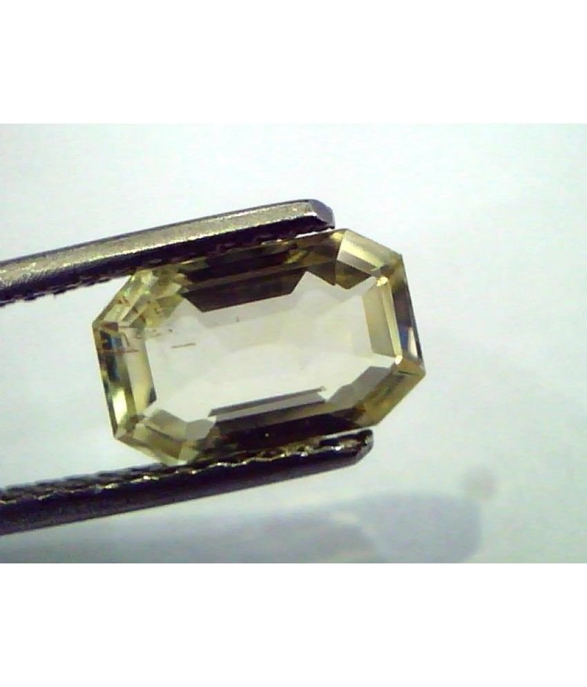 2.23 Ct Unheated Untreated Natural Ceylon Yellow Sapphire/Pukhraj