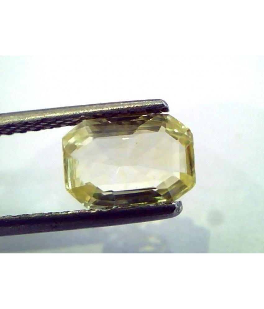 1.73 Ct Unheated Untreated Natural Ceylon Yellow Sapphire/Pukhraj