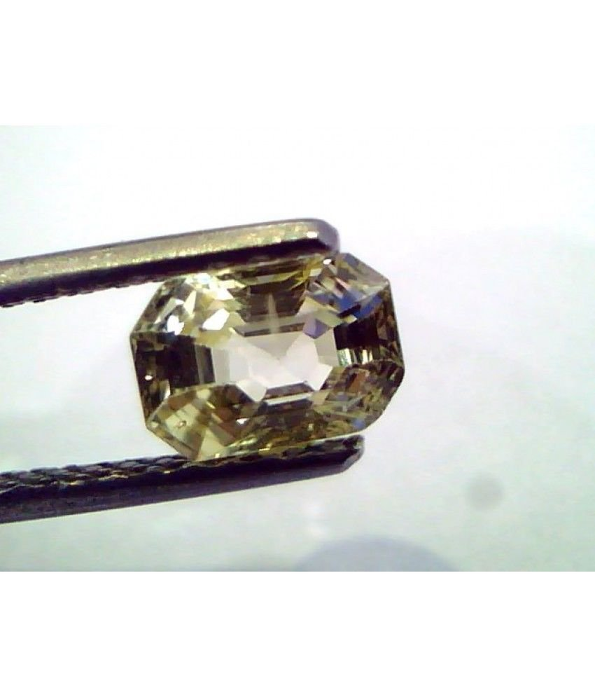 1.64 Ct Unheated Untreated Natural Ceylon Yellow Sapphire/Pukhraj