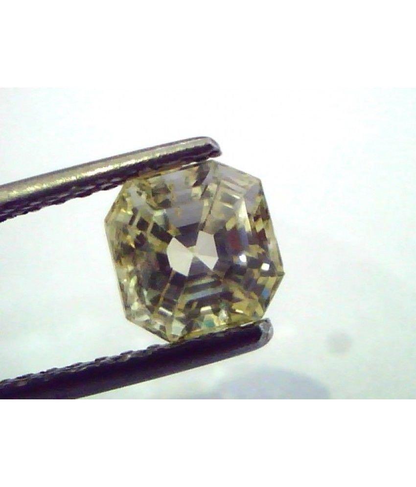 2.15 Ct  Unheated Untreated Natural Ceylon Yellow Sapphire/Pukhraj