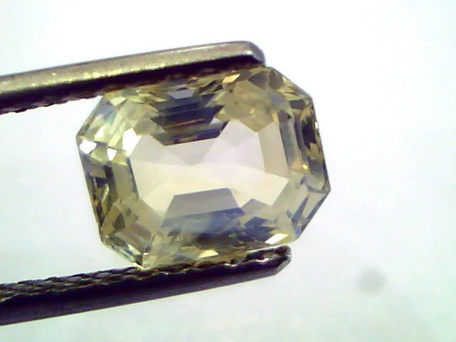 2.71 Ct Unheated Untreated Natural Ceylon Yellow Sapphire/Pukhraj