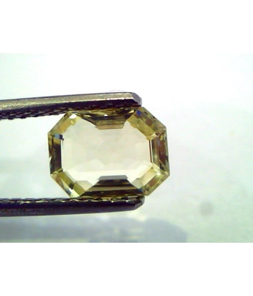 1.85 Ct  Unheated Untreated Natural Ceylon Yellow Sapphire/Pukhraj
