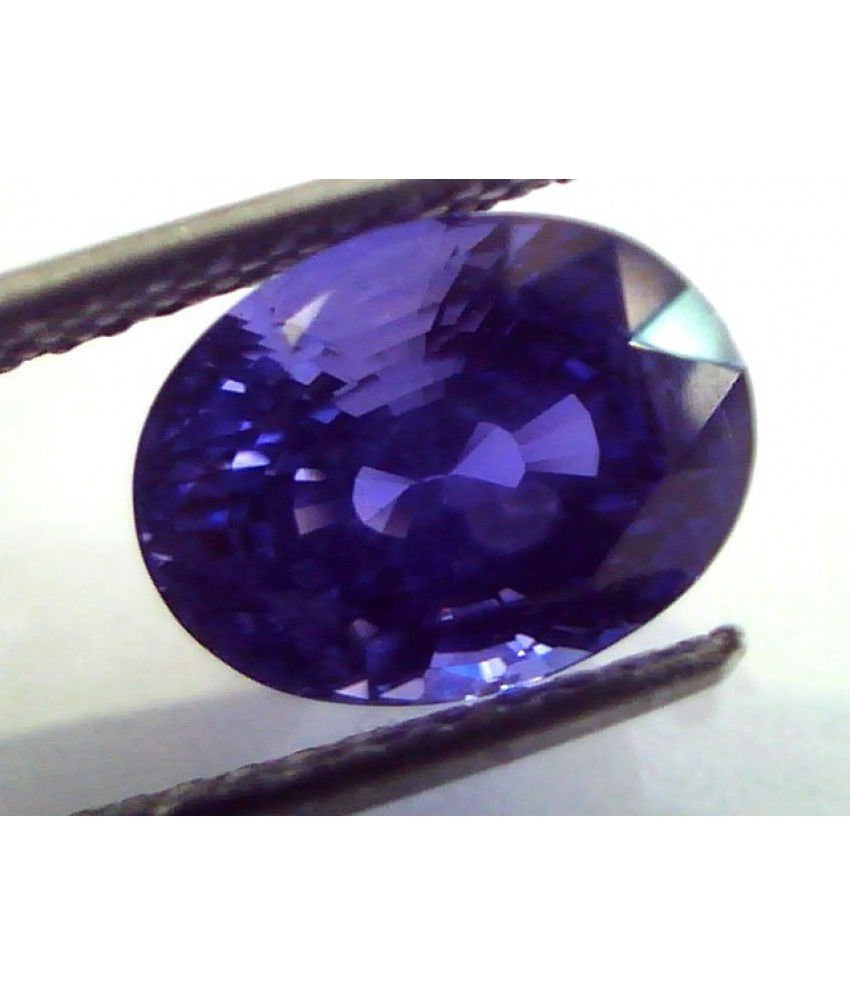 6.54 Ct Royal Blue Certified Untreated Unheated Natural Ceylon Blue Sapphire