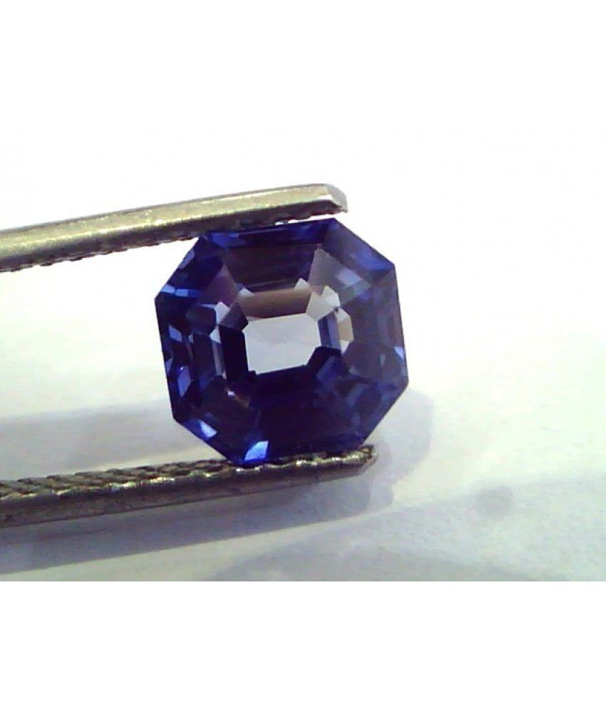 2.87 Ct IGI Certified Untreated Unheated Natural Ceylon Blue Sapphire