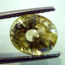 6.69 Ct Unheated Untreted Natural Ceylon Yellow Sapphire/Pukhraj