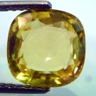 5.37 Ct Unheated Untreated Natural Ceylon Yellow Sapphire AAA