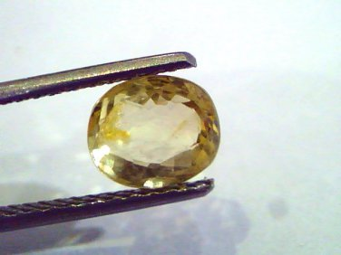 2.16 Ct Unheated Untreated Natural Ceylon Yellow Sapphire Gems