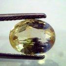 4.39 Ct IGI Certified Unheated Natural Ceylon Yellow Sapphire AA