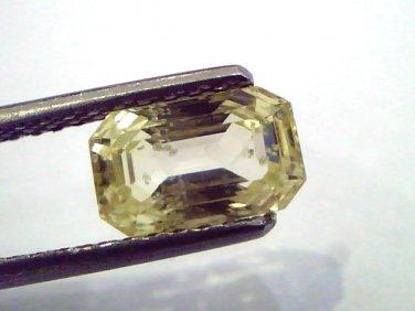2.46 Ct Unheated Untreated Natural Ceylon Yellow Sapphire/Pukhraj