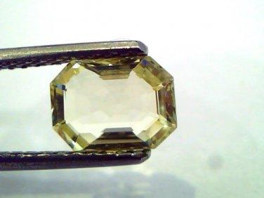 1.85 Ct Unheated Untreated Natural Ceylon Yellow Sapphire/Pukhraj