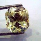 7.96 Ct IGI Certified Unheated Natural Ceylon Yellow Sapphire AAAAA