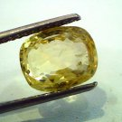 5.90 Ct Unheated Untreted Natural Ceylon Yellow Sapphire/Pukhraj
