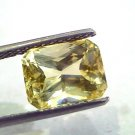 4.95 Ct 8.25 Ratti Unheated Untreated Natural Ceylon Yellow Sapphire