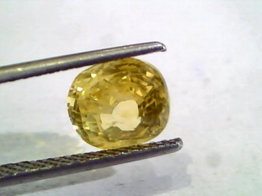4.06 Ct 6.7 Ratti Unheated Untreated Natural Ceylon Yellow Sapphire