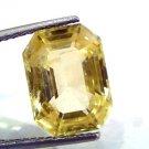 Huge 10.24 Ct Unheated Untreated Natural Ceylon Yellow Sapphire AAA