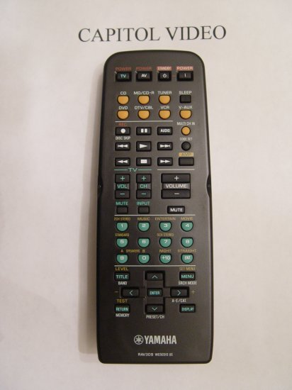 YAMAHA RAV309 REMOTE CONTROL PART # WG503100