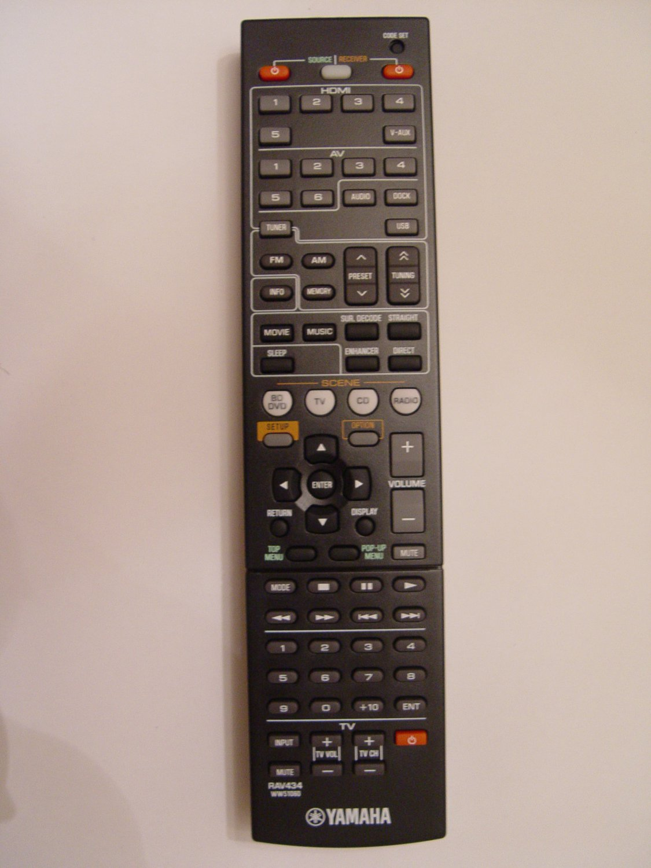 Yamaha rav434 remote control part ww510600 for Yamaha remote control app