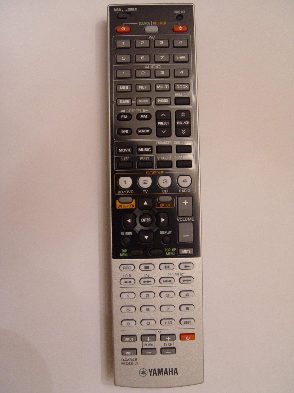 Yamaha rav346 remote control part wt928200 for Yamaha remote control app