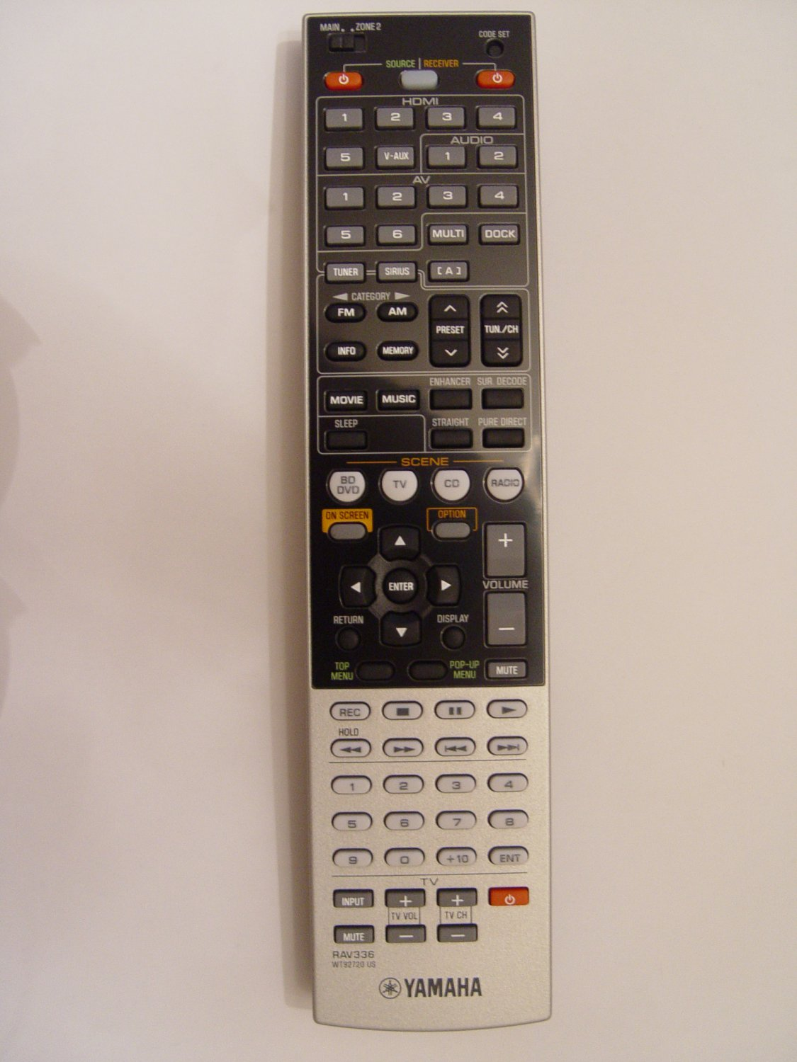Yamaha RAV336 Remote Control Part # WT927200