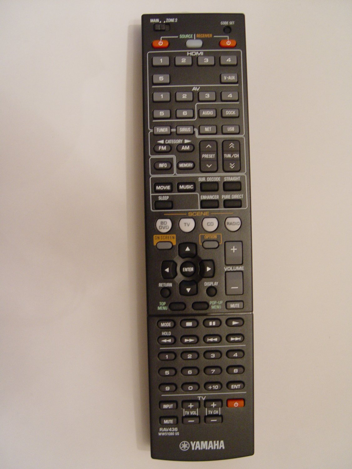 Yamaha Rav436 Remote Control Part   Ww510800