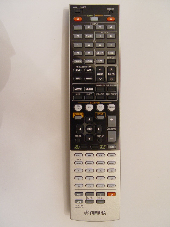 Yamaha rav345 remote control part wt928100 for Yamaha remote control app